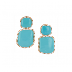 Chantecler Enchante Turquoise Earrings, Exclusively at Hamilton Jewelers