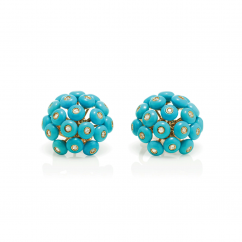 Chantecler 18k Rose Gold and Turquoise Dandelion Earrings, Exclusively at Hamilton Jewelers