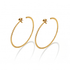 Chantecler Anima 70 Diamond Hoop Earrings, Exclusively at Hamilton Jewelers