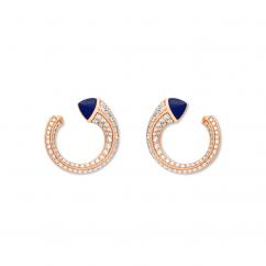 Marli 18k Rose Gold Cleo Venus Lapis Diamond Sud Earrings