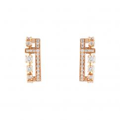 Marli 18k Rose Gold Avenue Diamond Stud Earrings