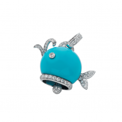 Chantecler 18k Turquoise Whale Charm, Exclusively at Hamilton Jewelers