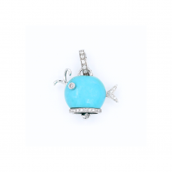 Chantecler 18k Gold and Turquoise Whale Charm, Exclusively at Hamilton Jewelers