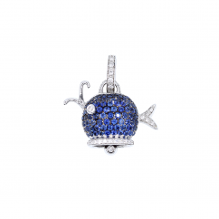Chantecler 18k Gold and Sapphire Whale Charm, Exclusively at Hamilton Jewelers