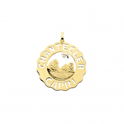 Chantecler Logo 18k Gold Faraglioni Pendant, Exclusively at Hamilton Jewelers