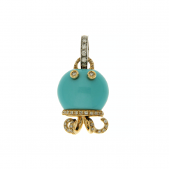 Chantecler Marinelle Octopus Turquoise Charm, Exclusively at Hamilton Jewelers