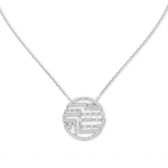 Marli 18k White Gold Avenue Diamond Pendant
