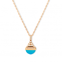 Marli 18k Rose Gold Cleo Rev Mini Chalchedony Diamond Pendant
