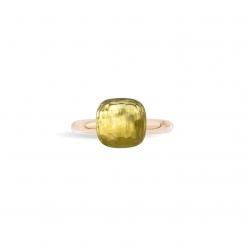 Pomellato Nudo Classic 18k Gold and Lemon Quartz Ring