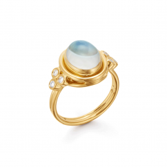 Temple St. Clair 18k Gold and Moonstone Ring