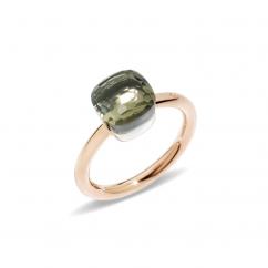 Pomellato Nudo Mini 18k Gold and Prasiolite Ring