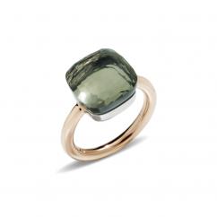 Pomellato Nudo Maxi 18k Gold and Prasiolite Ring
