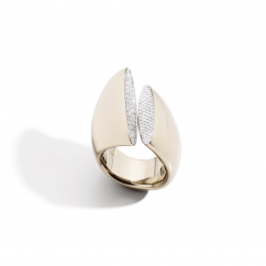 Vhernier Eclisse 18k Gold and Diamond Ring