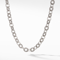 """The Chain Collection Sterling Silver Oval Medium Link Necklace 17"""""""