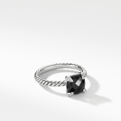 David Yurman Chatelaine® Ring Sterling Silver with Black Onyx and Diamonds