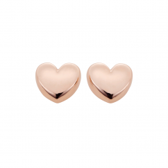 Classic 14k Rose Gold Heart Stud Earrings