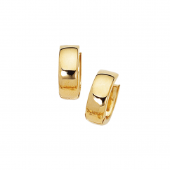 Classic 14k Yellow Gold Huggie Earrings