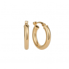 Classic 14k Yellow Gold 15mm Hoops