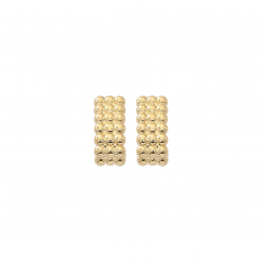 Classic 14k Gold Beaded Earrings