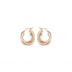 Classic 14k Yellow Gold Double Hoops