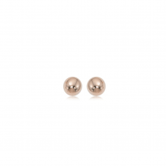 Classic 14k Rose Gold 6mm Ball Stud Earrings