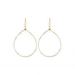 14k Yellow Gold Teardrop Earrings