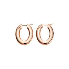 Classic 18k Rose Gold Hoop Earrings