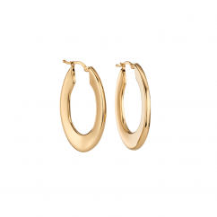 Classic 18k Yellow Gold Extra Large Hoops