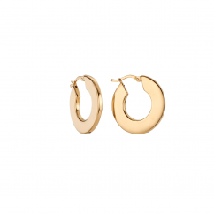 Classic 18k Yellow Gold 1.25 Inch Hoops