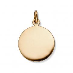 Hamilton 18k Gold Round Disc Charm