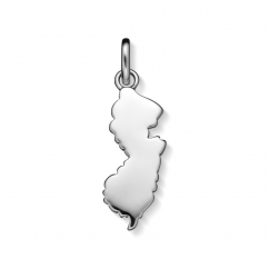Hamilton Sterling Silver New Jersey State Charm