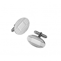 Hamilton Sterling Silver Engine Turn Cufflinks