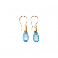 Calypso 14k Blue Topaz Drop Earrings