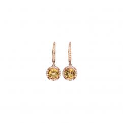 Lisette 18k Gold Citrine and Diamond Earrings