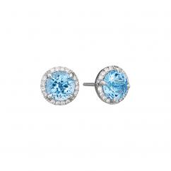 Lisette 18k Gold and Blue Topaz Earrings