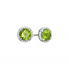 Lisette 18k Gold and Peridot Earrings