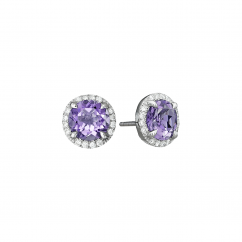 Lisette 18k Gold and Amethyst Earrings