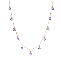 Calypso 14k Gold and Amethyst Necklace