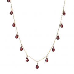 Calypso 14k Gold and Garnet Necklace