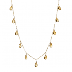 Calypso 14k Gold and Citrine Necklace