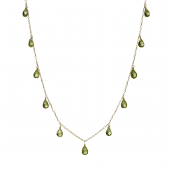 Calypso 14k Gold and Peridot Necklace