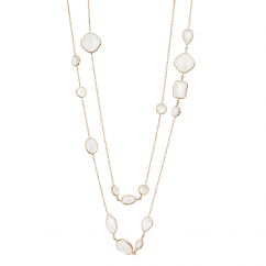 Facets 14k Gold 36 Inch Moonstone Necklace