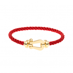 Fred Red Cable Bracelet With 18k Gold Buckle, Exclusively at Hamilton Jewelers