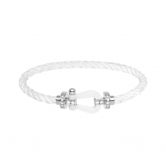 Fred White Cable Bracelet With Diamond Buckle, Exclusively at Hamilton Jewelers