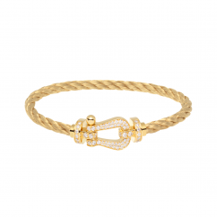 Fred 18k Gold Cable Bracelet and Diamond Buckle, Exclusively at Hamilton Jewelers