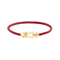 Fred Burgundy Cable Bracelet with Gold Buckle, Exclusively at Hamilton Jewelers