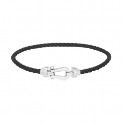 Fred Black Cable Bracelet with Gold Buckle, Exclusively at Hamilton Jewelers