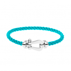 FRED Turquoise Cable Bracelet with White Gold Buckle,Exclusively at Hamilton Jewelers