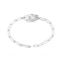 Dinh Van 18k Gold and Diamond Menottes Bracelet