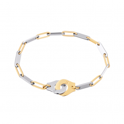 Dinh Van 18k Gold and Stainless Steel Menottes Bracelet